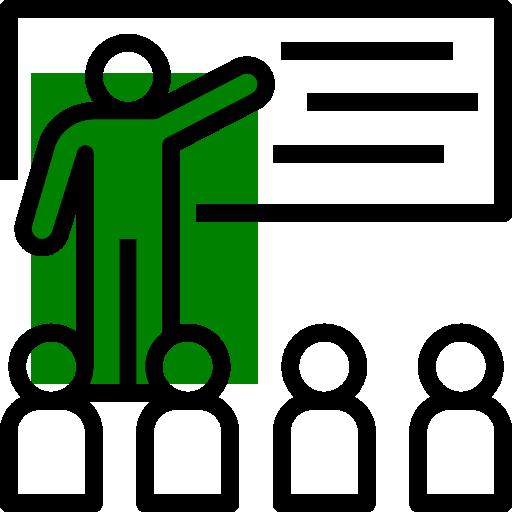 Icoon lesgeven groen