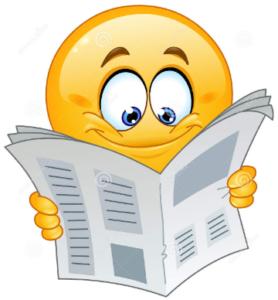 Krant lezen emoji